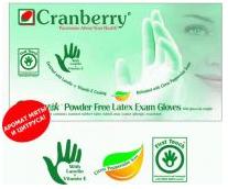 Cranberry Латексные диагностические неопудренные перчатки Cyntek