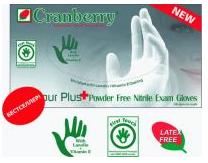 Cranberry Нитриловые диагностические неопудренные перчатки Contour Plus