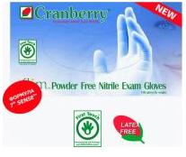 Cranberry Нитриловые диагностические неопудренные перчатки Xlim