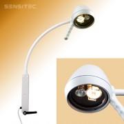 Двойной галогеновый светильник на гибком держателе